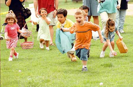 The Easter Egg Hunt has everything to do with Easter