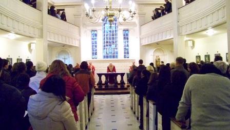 Closing Palm Sunday Vigil Mass at the St Elizabeth Ann Seton Shrine