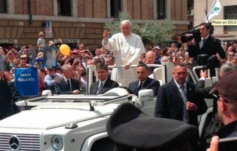 Pope Francis Attends Italian Pro-Life March Yesterday