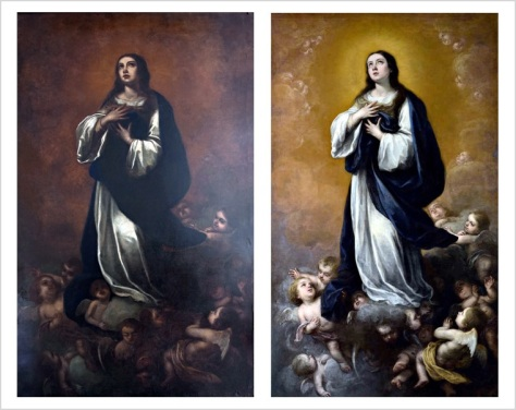 Left, imitation; Right, original