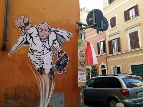 Even Italian graffiti must respect Pope Francis