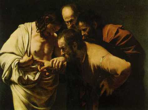 Caravaggio, Incredulity of St Thomas