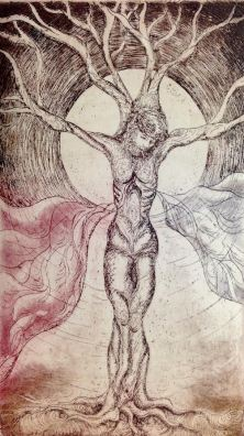 The Tree of Life, Alison Batley, Intaglio Print, 2014