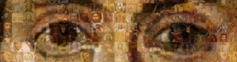 jesus eyes mosaic